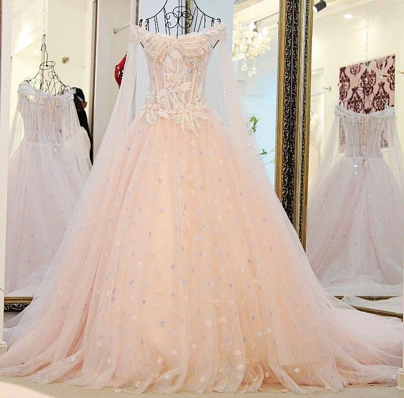 New Fashion Pink Bunte Hochzeit Kleid Braut Prinzessin Luxus Spitze ...