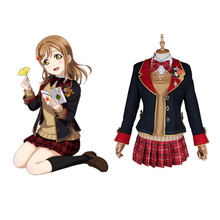 Love Live Sunshine Cosplay Kunikida Hanamaru Cosplay Costumes Uniform Outfit Anime Cosplay Costume Halloween Carnival Cosplay love live sunshine aqours anime kanan mari chika yoshiko ruby dia hanamaru kunikida happy party train birthday rubber keychain