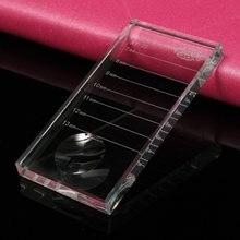 2in1 EyeLash Extension Pallet Eyelashes Glue Holder Lash Tiles Individual Rectangular Glass False Eye lash Adhesive Separator