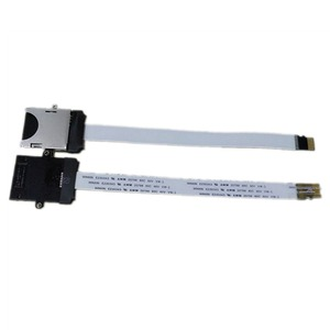 Image 1 - 10cm 25cm 48cm 62cm TF Micro SD Card to TF SD Card Flex Extension cable Extender Adapter Converter Reader Car GPS Mobile Phone