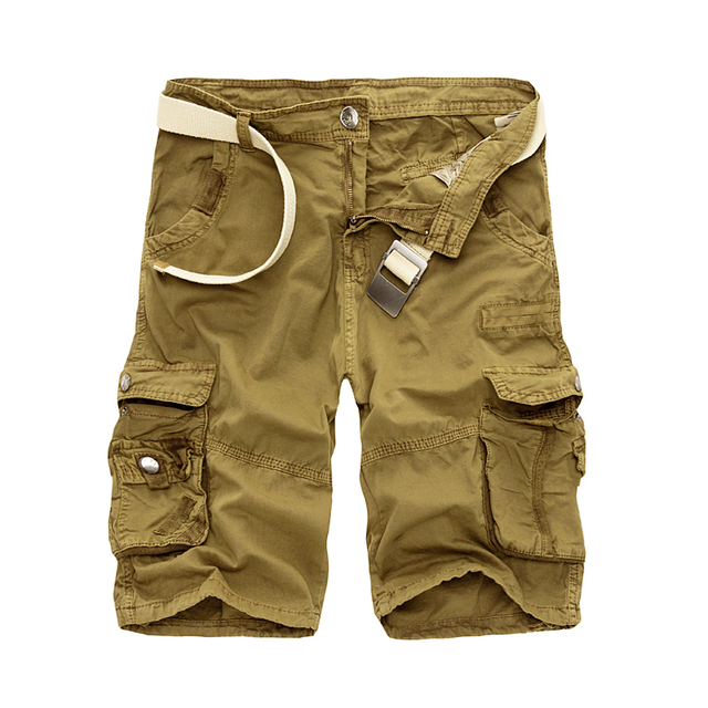 New 2018 Men Cargo Shorts Casual Loose Short Pants Camouflage Military Summer Style Knee Length Plus Size 10 Colors Shorts Men 2