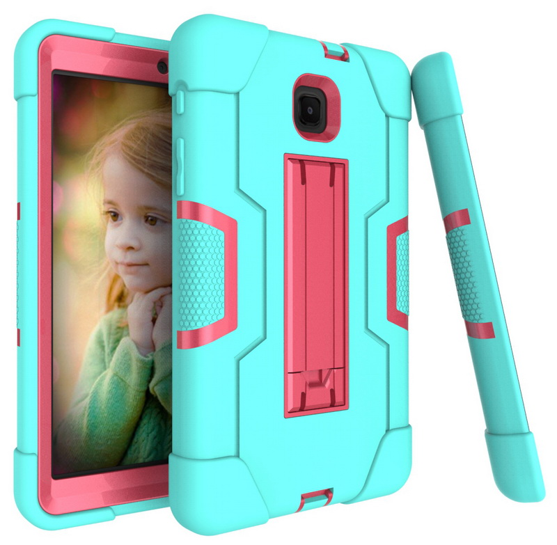 Cool Robot Armor Tablets Case For Samsung Galaxy Tab A 8.0 2018 T387 8.0 Inch Rugged Hybrid Tablet Stand Holder Back Cover