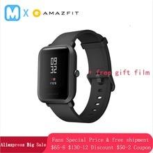 Купить с кэшбэком Amazfit Bip Huami Smart Watch [English Version] GPS Smartwatch Android iOS Heart Rate Monitor 45 Days Battery Life IP68