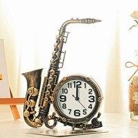 European style accessories simulation Sax musical instruments alarm clock room living room decoration