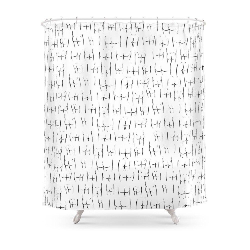 Ehrgeizig Butts Dusche Vorhang Set Wasserdichte Bad Vorhang Für Badezimmer Mit Nicht-slip Boden Matte