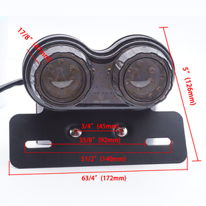 Image 4 - Universel moto LED feu arrière personnalisé moto arrêt arrière lampe de frein plaque dimmatriculation lumière clignotants indicateurs pour BMW