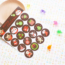 DoreenBeads Handmade Paper Christmas Adhesive Stickers Gift Bag Package Envelope Seal Label DIY Scrapbooking Socks Deer 5 Sets