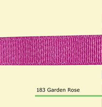 1 inch 25mm Silver Purl Garden Rose grosgrain ribbons