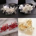 wedding rhinestone bridal hair comb crystal flower pearl combs hair accessories new women hair jewelry