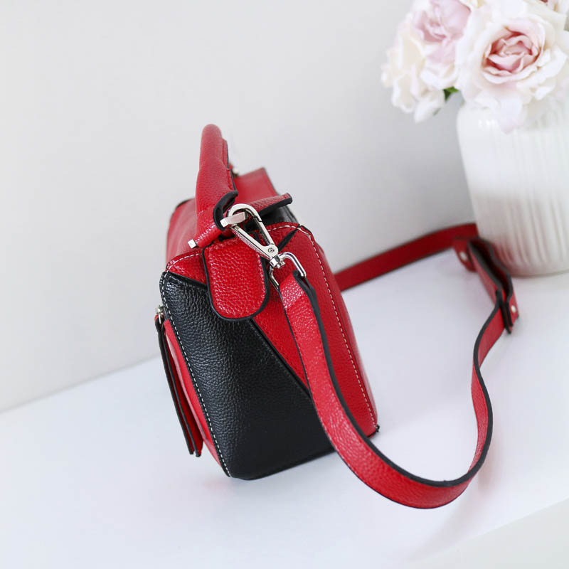 c5e9442861 YeeSupSei Small Square Flap Bag Women Messenger Crossbody Bag Handle Wide  Strap Shoulder Contrast Color PU Leather Handbag Purse-in Shoulder Bags  from ...