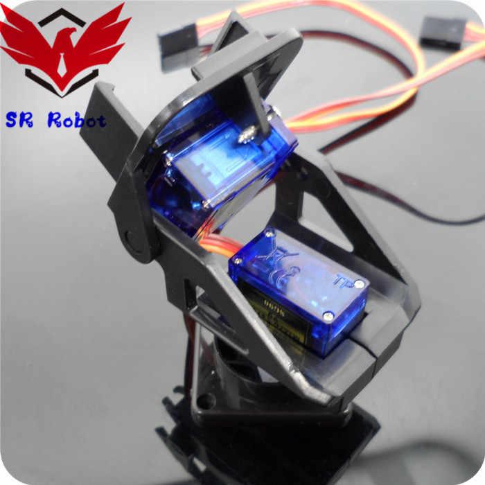 1 Juego de Nylon FPV Pan/Tilt montaje de cámara compatible SG90 9g Servo para Arduino DIY RC Robot de juguete modelo robótico enseñanza de Control remoto