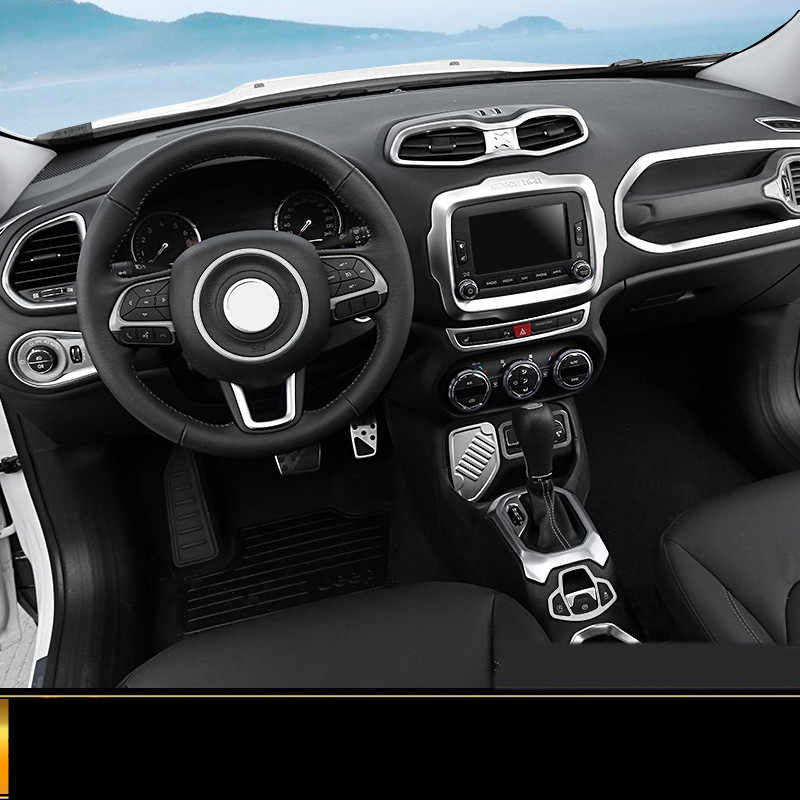 Steering Wheel Trim For Jeep Renegade 2016-17 Carbon Fiber Car-styling Accessory