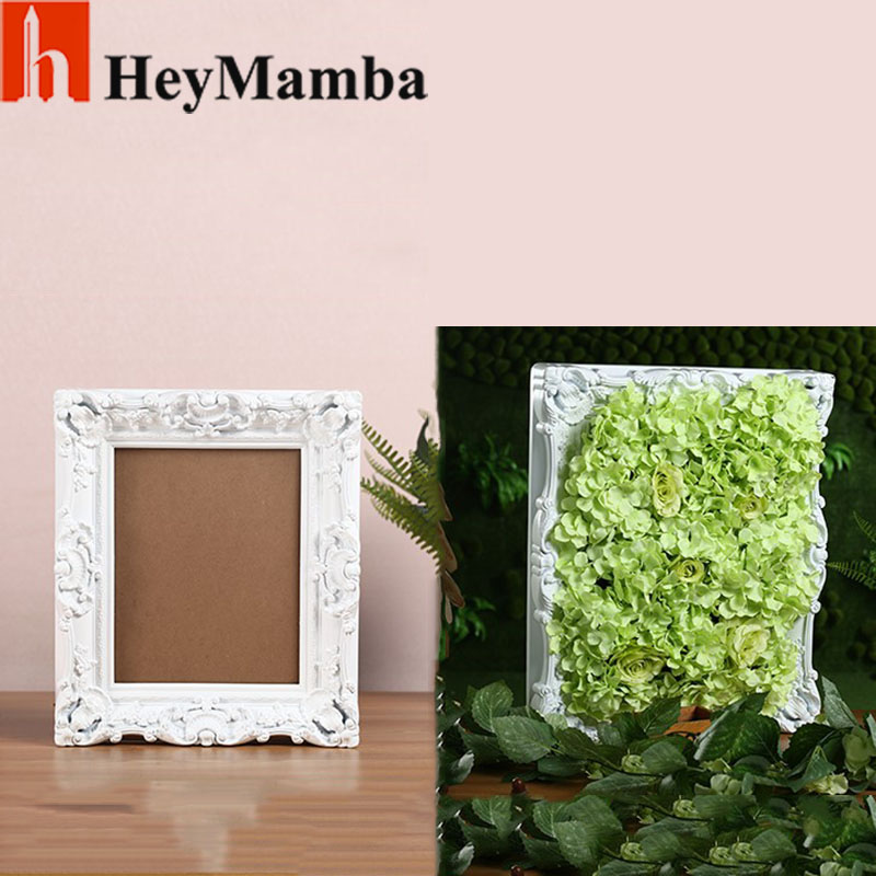 european antique white photo frames for picture 8 inch plastic photo frame wall for wedding decoration