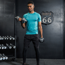 compression shirt mens sports gym  fitness dry fit running sportswear men sport