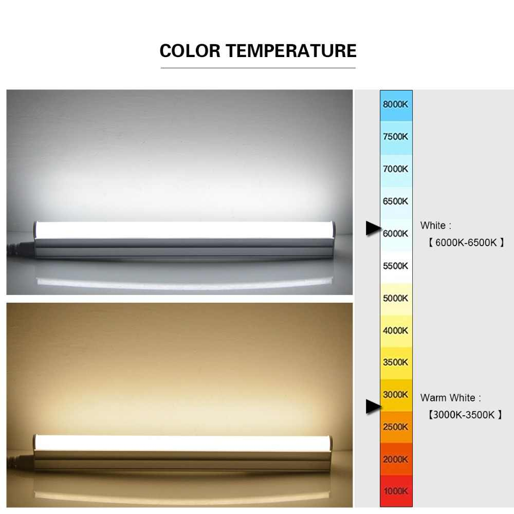 Aimengte t5 led أنبوب بار أضواء 6 واط 10 واط 300 ملليمتر 600 ملليمتر المتكاملة مصباح الفلورسنت t5 أنبوب أنبوب جدار ديكور خزانة المطبخ الإضاءة