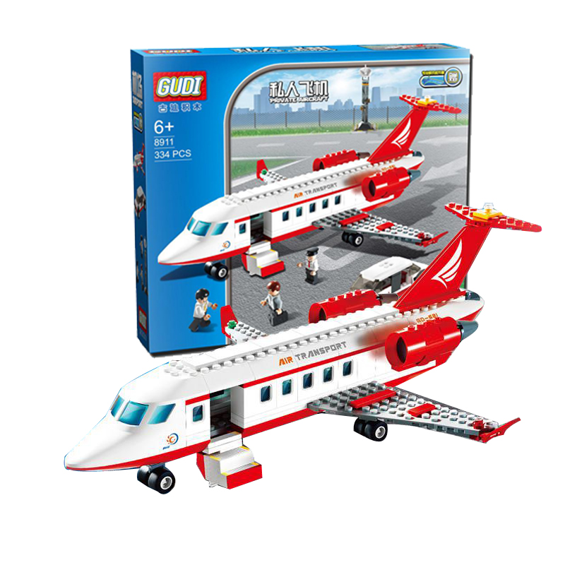 GUDI 334 pcs Plane Toy Air Bus Model Airplane Building Blocks Sets Model DIY Bricks Classic Toys Compatible With Lego solar military transport plane baron p320 jigsaw puzzle building blocks environmental diy toy