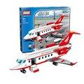 Gudi 334 pcs conjuntos de blocos de construção do modelo de avião avião de brinquedo modelo de ônibus com ar diy bricks brinquedos clássicos compatíveis com lego
