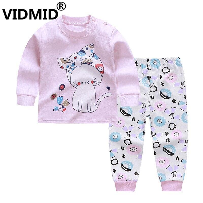 VIDMID Kids Baby Girls Christmas cartoon Tops Pants Leggings Pajamas baby kids girl sheep casual clothing sets suits 4063 01 1