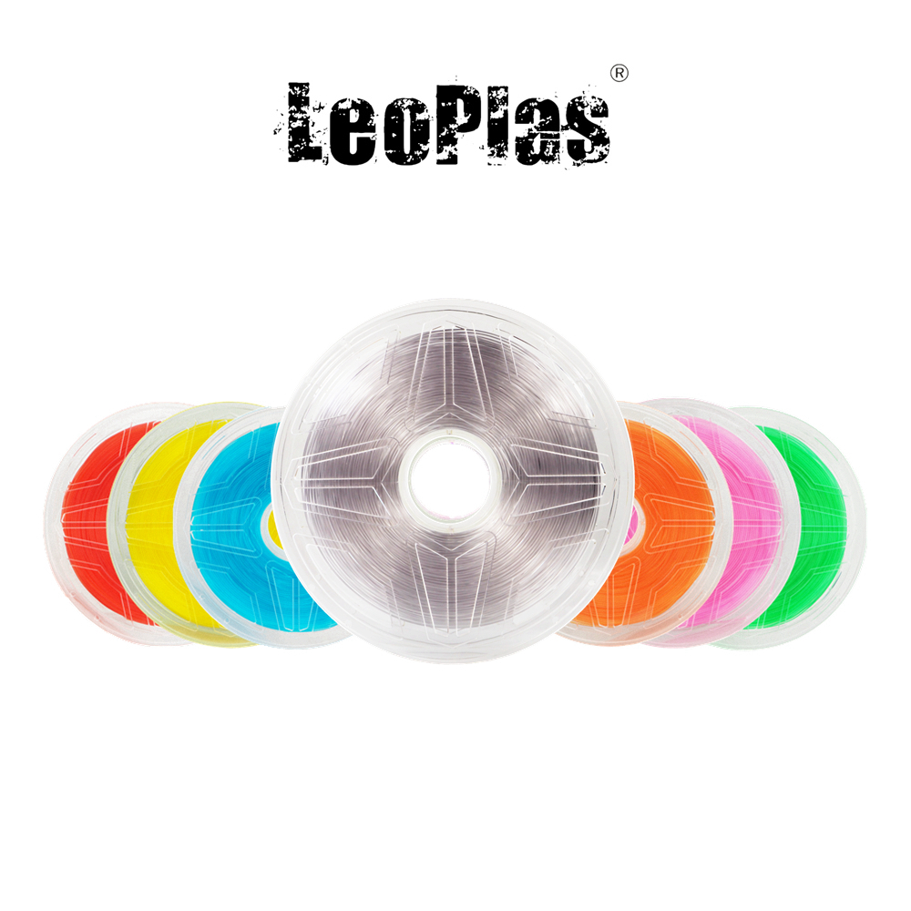 USA Spain China No Tax Warehouse 1.75mm Translucent Transparent PLA Filament 1kg 2.2lb 3D Printer Pen Supplies Printing Material