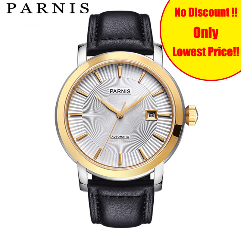 44mm Parnis Mens Mechanical Watch Wristwatch Sapphire 50M Waterproof Leather Automatic Mens Watch reloj automatico Brand Cheap44mm Parnis Mens Mechanical Watch Wristwatch Sapphire 50M Waterproof Leather Automatic Mens Watch reloj automatico Brand Cheap