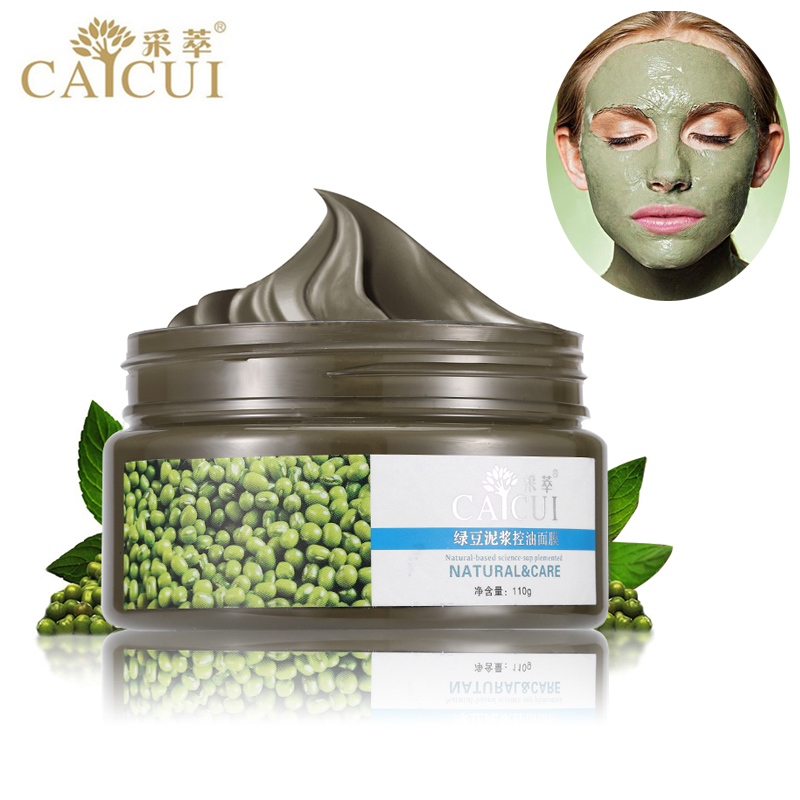 CAICUI Sand Mung Bean Mud Face Mask Acne Treatment Blackhead Remover Peeling Off Facial Mask Skin Care Day Night Cream