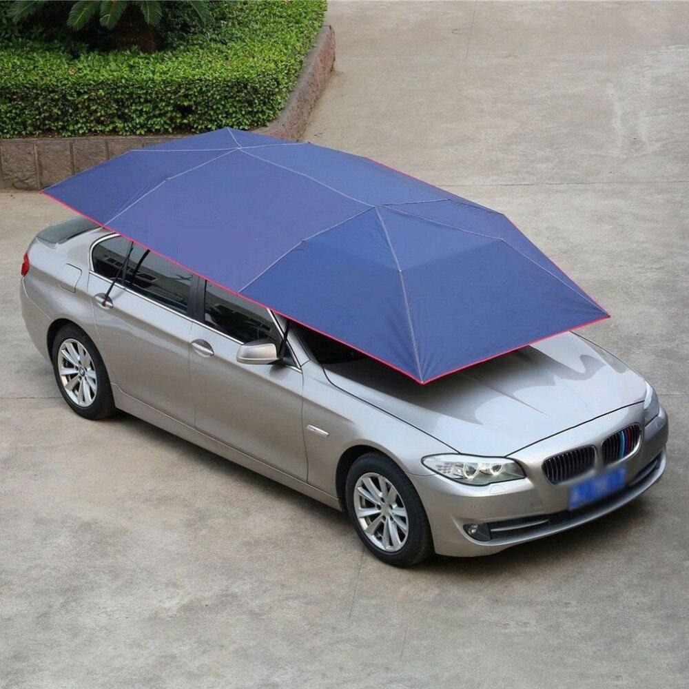 Le dernier 2018 entièrement automatique tente de voiture mobile parasol parapluie anti-poussière auvent pare-soleil voiture parapluie avec télécommande