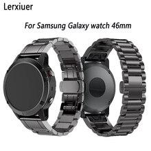 Купить с кэшбэком Stainless Steel strap for Samsung Galaxy watch 46mm/Gear S3 Frontier/Classic Huami 22mm band Smart watch Accessories bracelet