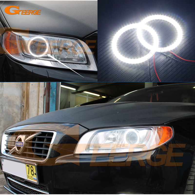 For Volvo S80 2008 2009 2010 2011 2012 2013 2014 2015 2016 Ultra bright illumination smd led Angel Eyes Halo Ring kit for lifan 620 solano 2008 2009 2010 2012 2013 2014 excellent ultra bright illumination smd led angel eyes halo ring kit