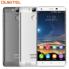 Oukitel K6000 Pro 5,5 zoll 4G LTE Handy MTK6753 Octa-core 3 GB + 32 GB Fingerabdruck 16.0MP 6000Amh Fingerprint ID Handys