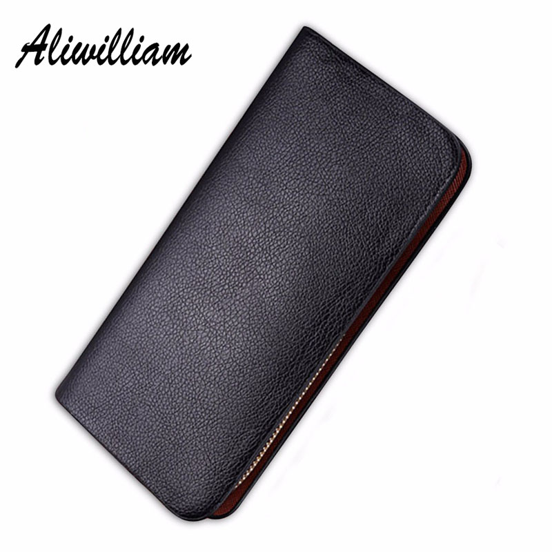 Aliwilliam Men Long Wallets Leather Purse Casual Men's Wallet Clutch Male Zipper Business Mens Wallet Coin Card Holders TY-Z30 new arrival 2017 wallet long vintage man wallets soft leather purse clutch designer card holders business handbags clips