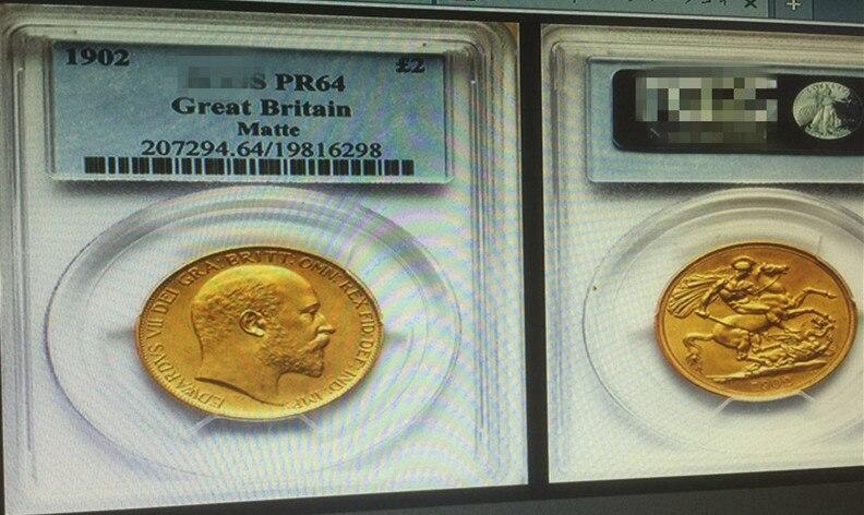 1902 Reino Unido 2 Ounds Eduardo VII Moeda De Ouro Em Grau Caso Hold Em  Não Moeda Moedas De Home U0026 Garden No AliExpress.com | Alibaba Group