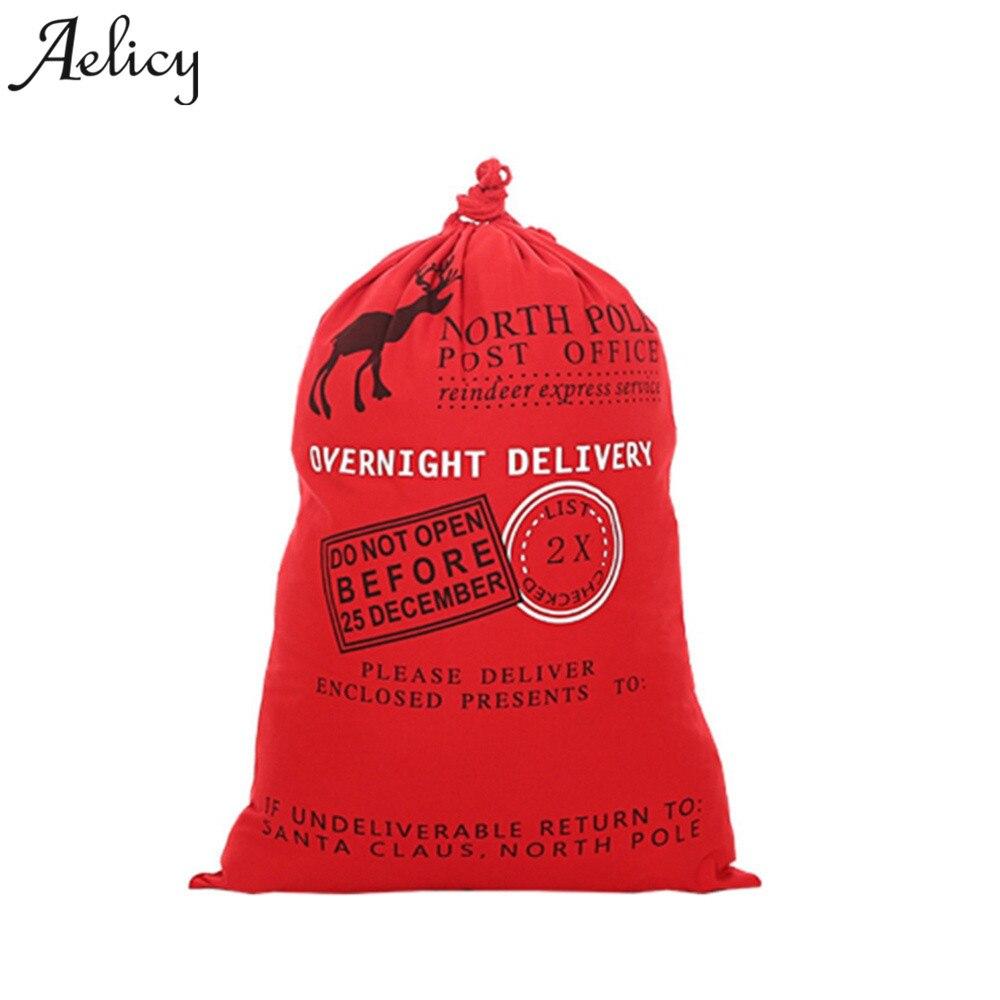 Aelicy Neue Weihnachten Santa Säcke Baumwolle Rentier Navidad Geschenk Inhaber Süßigkeiten Kordelzug Luxus Handtaschenfrauen-designer Rohstoffe Sind Ohne EinschräNkung VerfüGbar Gepäck & Taschen