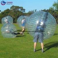 Hot selling 1.5m inflatabe bumper ball outdoor games walk in plastic bubble ball for rental