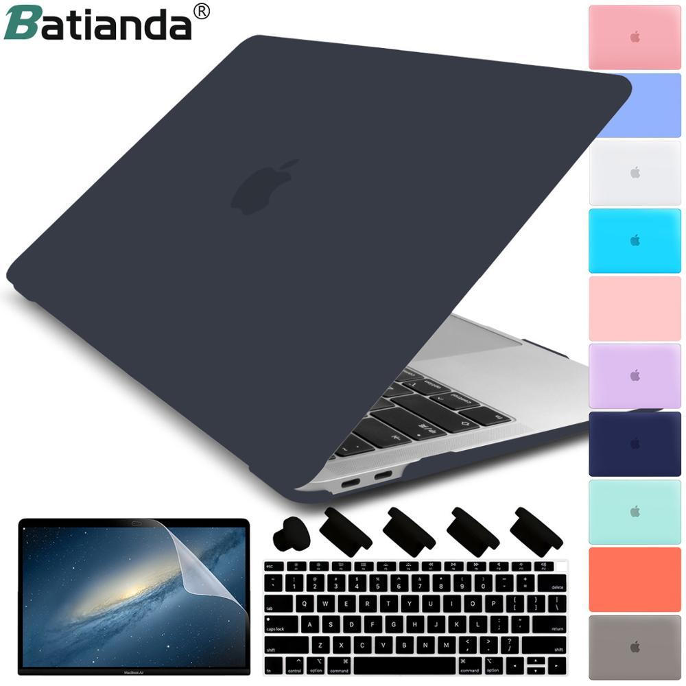 Funda de plástico duro de cristal mate para MacBook Pro 2017 2018 2019 Pro Retina 13 15 pulgadas A1706/A1707 barra táctil New Air 13A1932