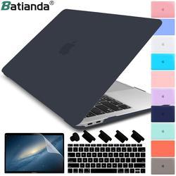 Matte Kristal Plastik Penutup Hard Case untuk MacBook Pro 2017 2018 2019 Pro Retina 13 15 Inch A1706/A1707 touch Bar Baru Air 13A1932