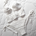 High Quality Women White Bathing Suits 2016 Knitted Bikini Crochet Crop Top Sexy Strappy maillot de bain Crochet Swimwears