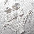 Las Mujeres de alta Calidad Trajes De Baño Blanco 2016 Crop Top Sexy Con Tirantes de Punto Bikini de Ganchillo Crochet Trajes de Baño maillot de bain