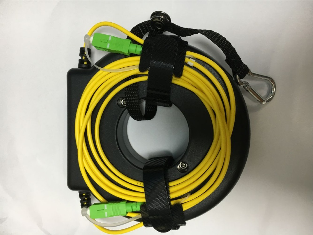 Round OTDR Dead Zone Eliminator Fiber Rings Fiber Optic OTDR Launch Cable Box 100M 200M 300M
