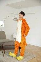 New Flannel Cosplay Unisex Cartoon Pajamas Animal Onesies Adult Unisex Onesie Jumpsuits Costumes Pyjamas