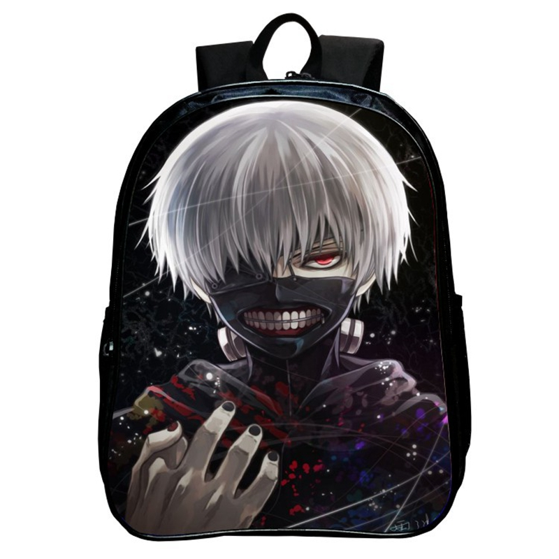 2017 Japan Hot Cartoon Tokyo Ghoul Anime 3D Jacquared Students School Backpack Women Bags Large Capacity Men School Bags mochila комплект play today 2 комбинезона цвет белый розовый