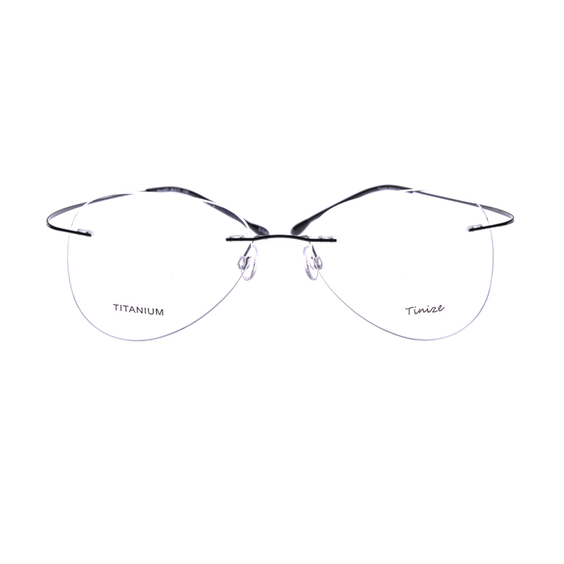 56315de6c7 Light weight 8 Colors Aviattor Rimless Optical Glasses Memory Titanium  Eyeglasses Prescription Rx Optical Frames B607 Demo Lens-in Eyewear Frames  from ...