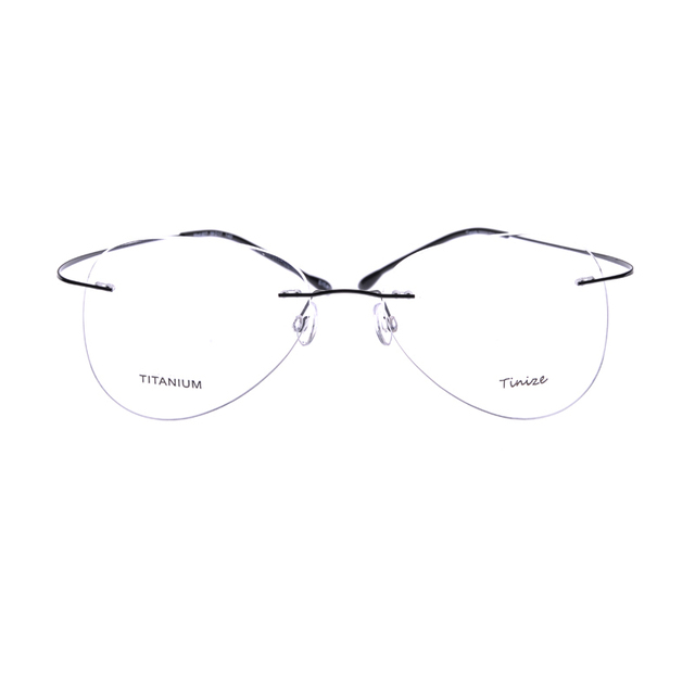 19ddfa72991 Light-weight 8 Colors Aviattor Rimless Optical Glasses Memory Titanium  Eyeglasses Prescription Rx Optical Frames