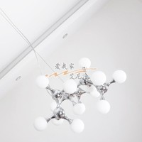 A1 Fashion Personality originality modern minimalist ceiling lamp bedroom glass DNA molecular Ceiling Lights FG520