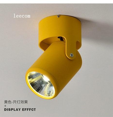 5w 7 super brilhante luz de ponto 180 graus rotacao lampada do teto led para