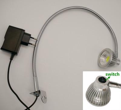 110 V/220 V/12 V/24 V Interruptor Na Cabeça Gooseneck Led Trabalho Lâmpada de Mesa Giratório