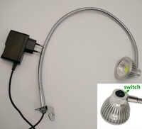 110 V/220 V/12 V/24 V interruptor en cabeza cuello de cisne Led lámpara de trabajo de mesa giratoria