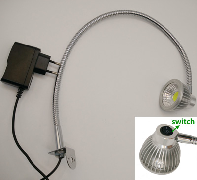 110V/220V/12V/24V Switch On Head Gooseneck Led Turnable Table Work Lamp
