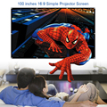 100 polegadas parede montada branco fosco tela de projeção portátil para unic uc40 uc46 gm60 mini lcd dlp