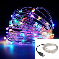 Led string lights 10m 33ft 100led 5v usb powered outdoor warm white rgb copper wire christmas.jpg 200x200