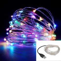 Led string lights 10m 33ft 100led 5v usb powered outdoor warm white rgb copper wire christmas.jpg 250x250